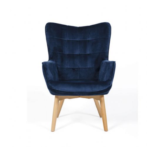 Home Essential AED 123 Plush Blue  Accent Chair